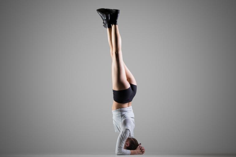 Side Headstand yoga pose